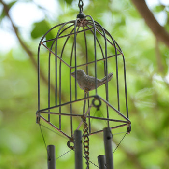 Square Bird Cage Wind Chime