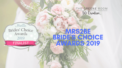 Finalist! Mrs2Be.ie -  Bride's Choice Award 2019 Finalist
