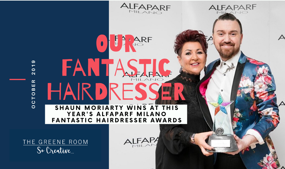 Shaun Moriarty, wins FANTASTIC Hairdresser of the Year 2019