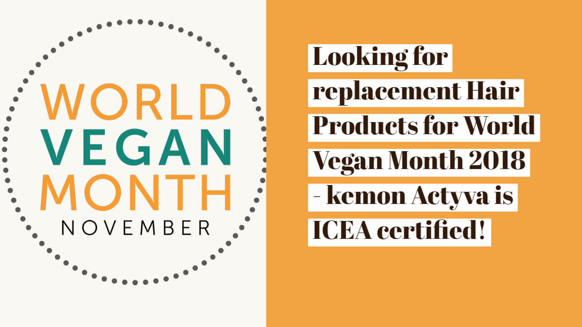 Kemon Actyva - World Vegan Month 2018 - Shampoos and Conditioner