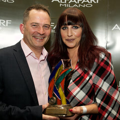 ALFAPARF MILANO FANTASTIC STYLIST AWARD – Pictured Ken O'Connor, Alfaparf Milano Ireland, Olivia O'Keefe, The Greene Room, Killaloe, Co. Clare