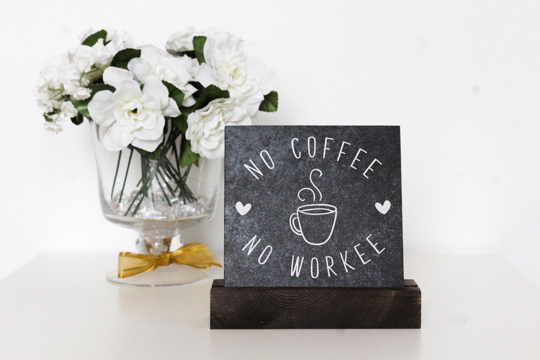 No Coffee Table Top Sign