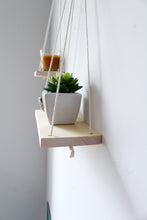 Load image into Gallery viewer, Kaia Hanging Shelves in Natural