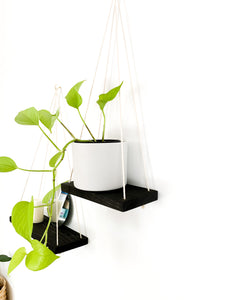 Kaia Hanging Shelves in Ebony