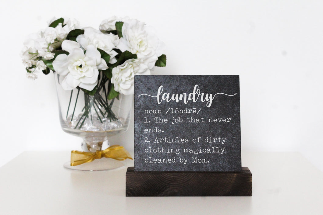 Laundry Table Top Sign