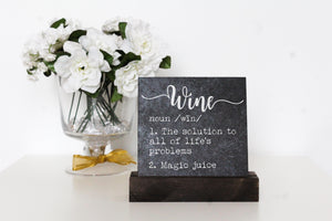 Wine Table Top Sign