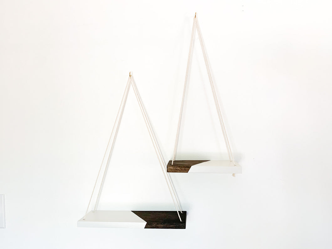 Kaia Hanging Shelves in Rum & White Russian