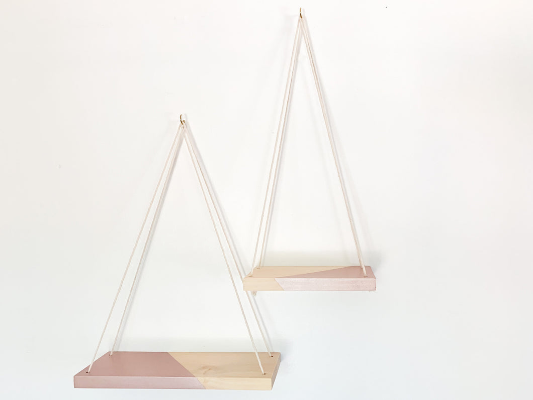 Kaia Hanging Shelves in Natural & Moscato