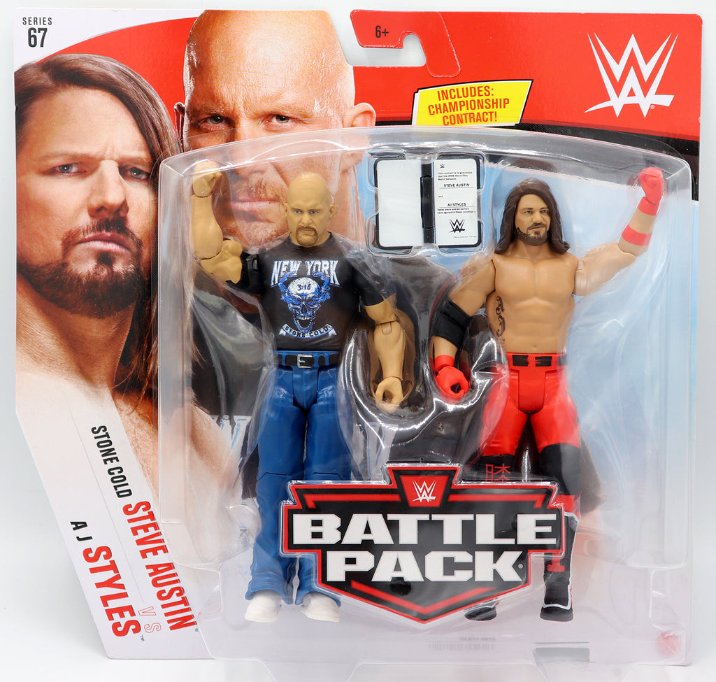 WWE Mattel Battle Packs Series 67 Stone Cold Steve Austin / AJ Styles