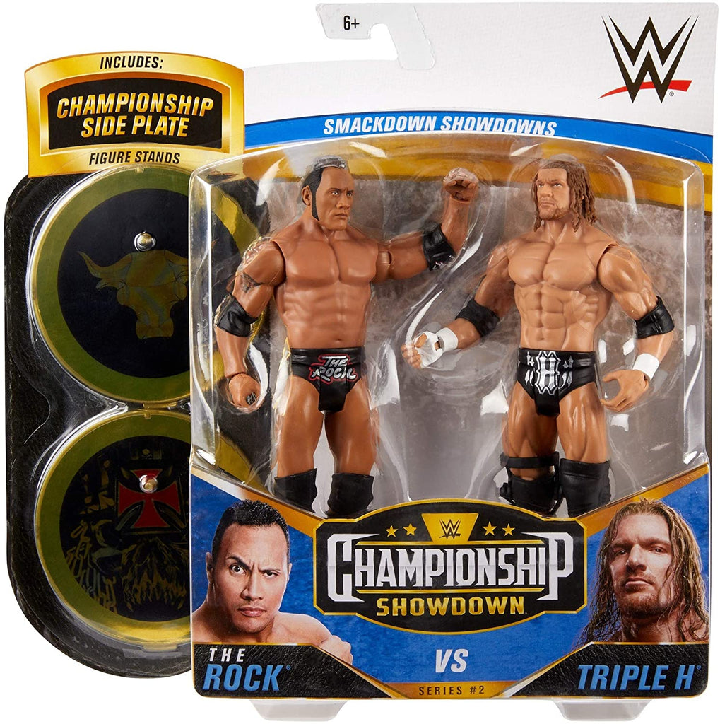 WWE Mattel Battle Packs Championship Showdown Series 2 The Rock vs. Triple H