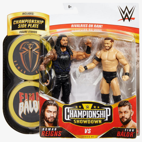 WWE Mattel Battle Packs Championship Showdown Series 1 Roman Reigns vs. Finn Balor