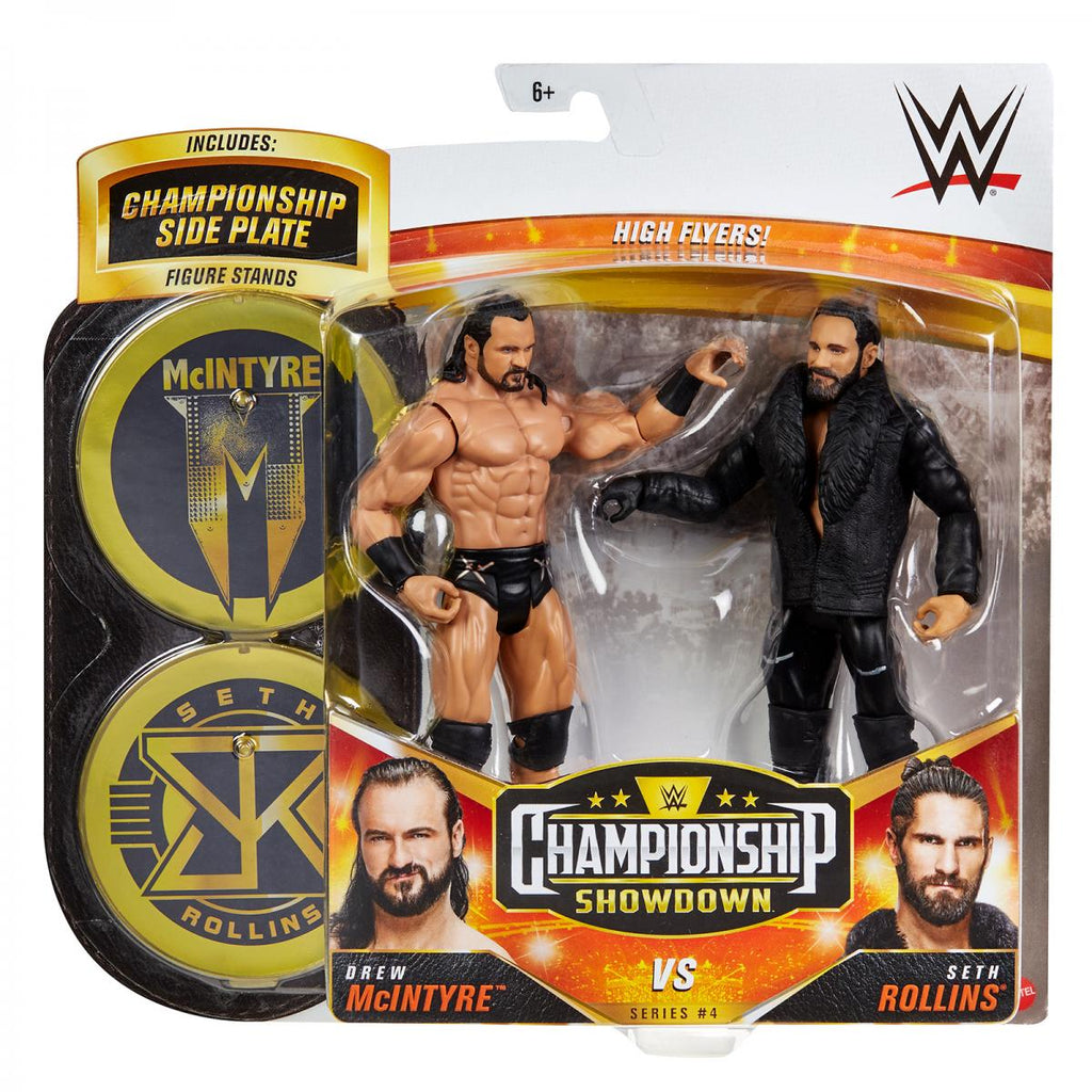 WWE Mattel Battle Packs Championship Showdown Series 4 Drew McIntyre vs. Seth Rollins