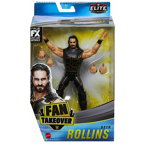 WWE Mattel Elite Collection Exclusive Fan Takeover Seth Rollins