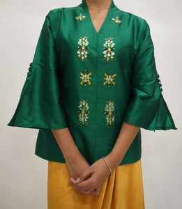 Kebaya Bunga by MEK (Defect) in Green (L)