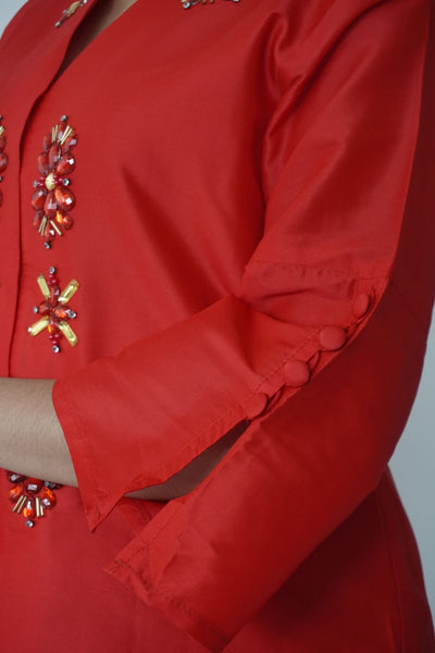 Kebaya Bunga by MEK in Red (L)