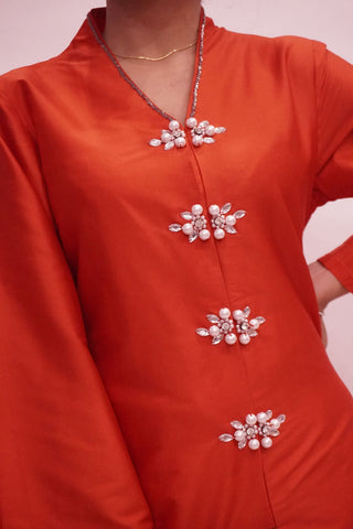 Top by MEK (Defect) in Red (L)