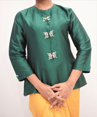 Top by MEK (Defect) in Green (M)