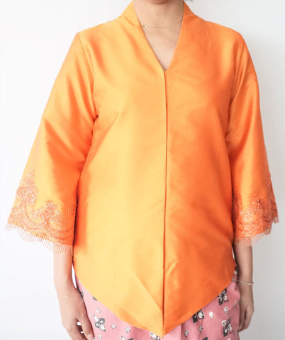 Laced Kebaya by MEK (Defect) in Orange (M)