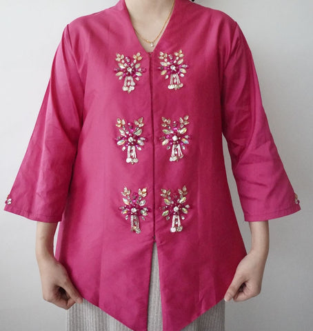 Kebaya Teratai by MEK (Defect) in Pink (L)