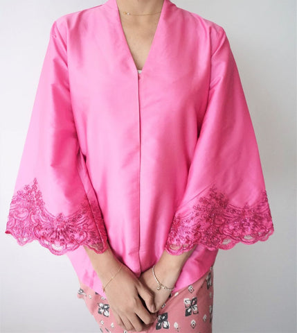 Laced Kebaya by MEK (Defect) in Pink (M-L)