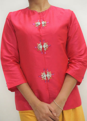 Top by MEK (Defect) in Hot Pink (S)
