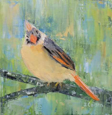 Female Cardinal by Ingrid Carson