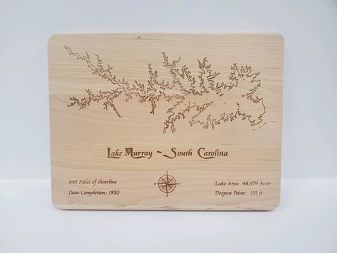 Lake Murray Cutting Board