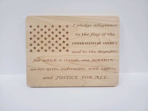 Pledge of Allegiance Cutting Board