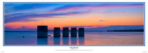 Lake Murray Towers Sunset by Bill Barley