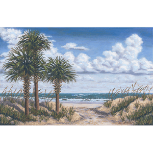 Beach Palmettos by Al Leitch