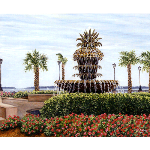 Pineapple Fountain by Jill Strickland