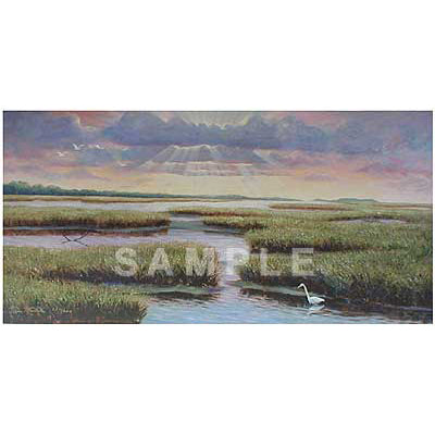 Evening on the Marsh by Van Martin