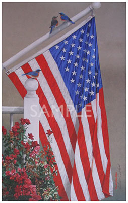 Red, White and Blue by William Carl Bell