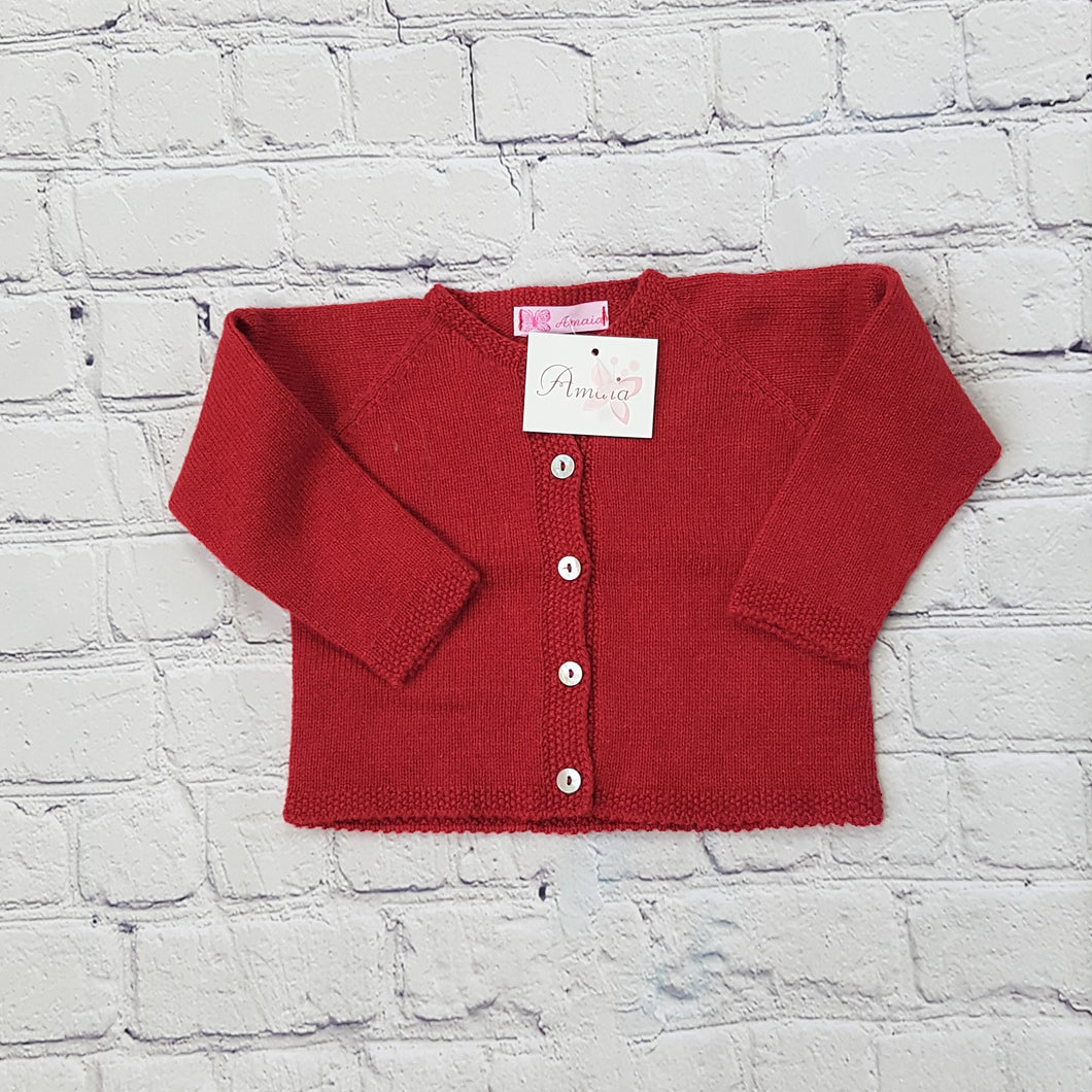 AMAIA outlet baby red cardigan 6m baby - FAMILY AFFAIRE