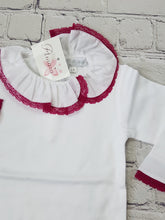 Load image into Gallery viewer, AMAIA outlet baby body with pink lace collar - FAMILY AFFAIRE