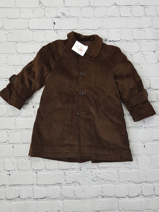 AMAIA outlet boy brown cord coat - FAMILY AFFAIRE