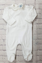 Load image into Gallery viewer, pyjama velours bebe col blanc occasion seconde main c de c