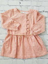 Load image into Gallery viewer, robe zara velours rose avec etoiles dorees occasion bebe