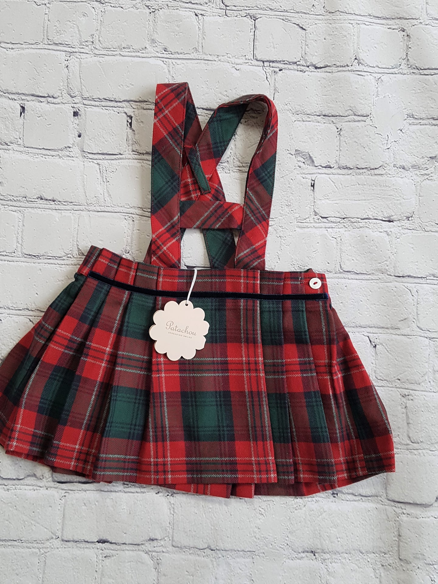 PATACHOU oulet girl dress in tartan 6m