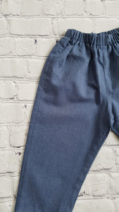 AMAIA outlet baby, boy or girl blue trousers - FAMILY AFFAIRE