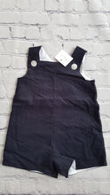 Load image into Gallery viewer, AMAIA outlet navy dungaree baby girl boy - FAMILY AFFAIRE