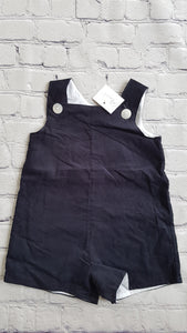 AMAIA outlet navy dungaree baby girl boy - FAMILY AFFAIRE