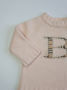 BURBERRY girl jumper 9m