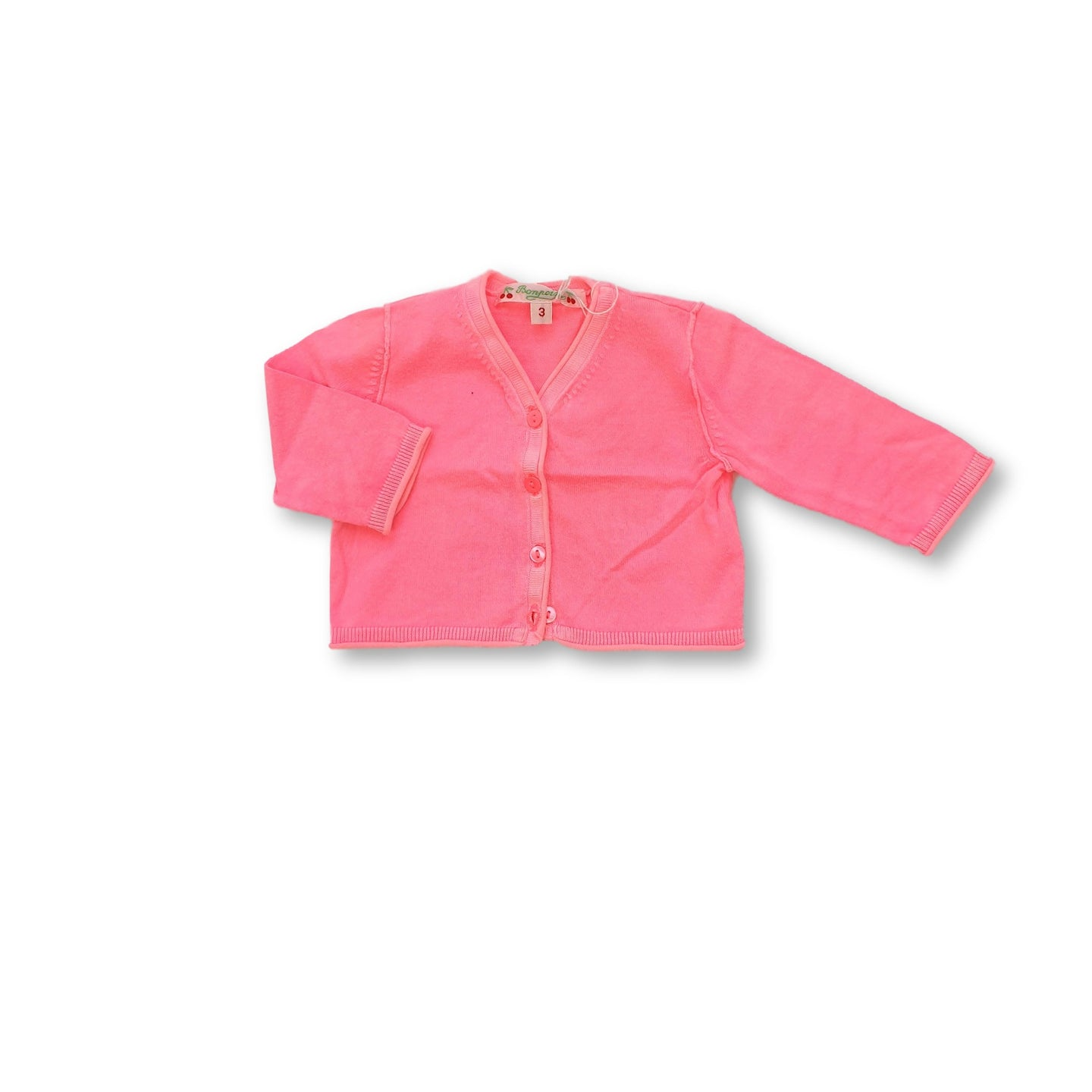 BONPOINT girl cardigan 3m