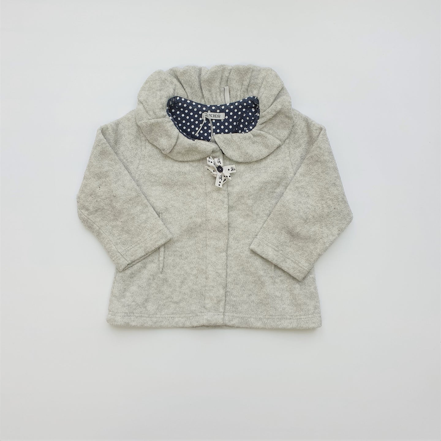 IKKS girl grey vest 12m