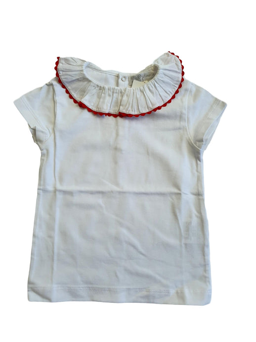 AMAIA outlet girl top red collar 2-4-8yo