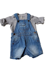 Load image into Gallery viewer, ZARA boy or girl dungaree 12-18m