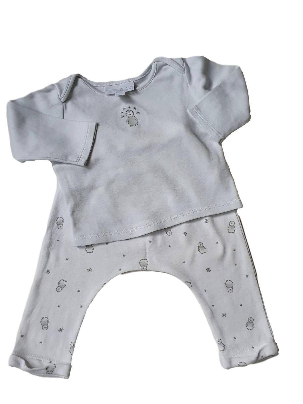 LITTLE WHITE COMPANY boy or girl set 6-9m