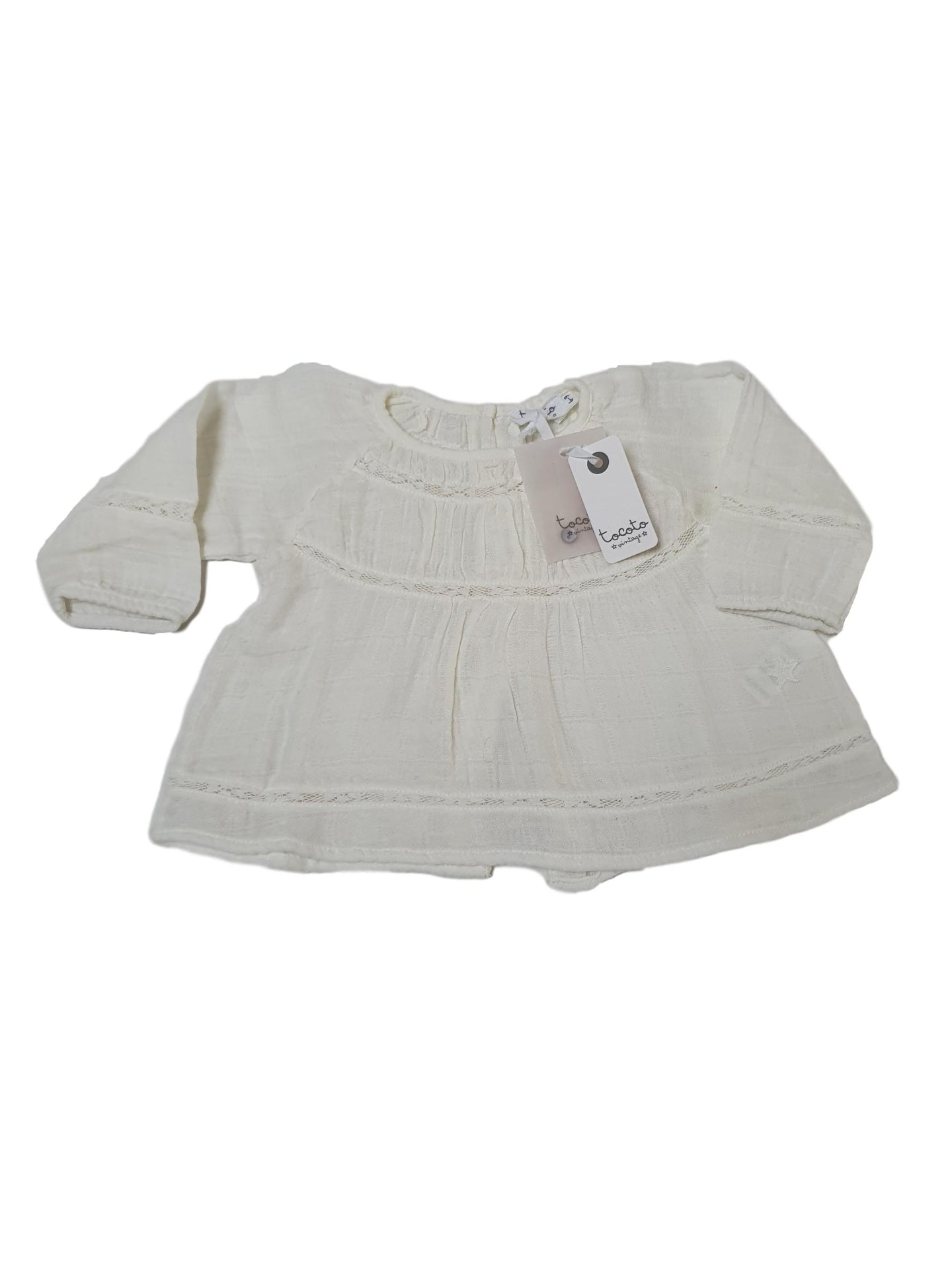 TOCOTO VINTAGE OUTLET girl top 6-9m