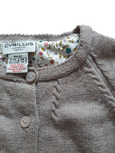 Load image into Gallery viewer, CYRILLUS girl cardigan 6m